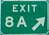 Kingsport TN Exit 8 Sign Interstate 26 and 81
